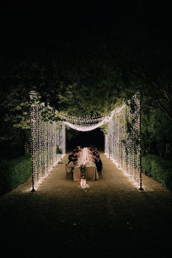 A moody dream backyard wedding ceremony for a trend ahead couple at Palacio Villahermosa in Spain
