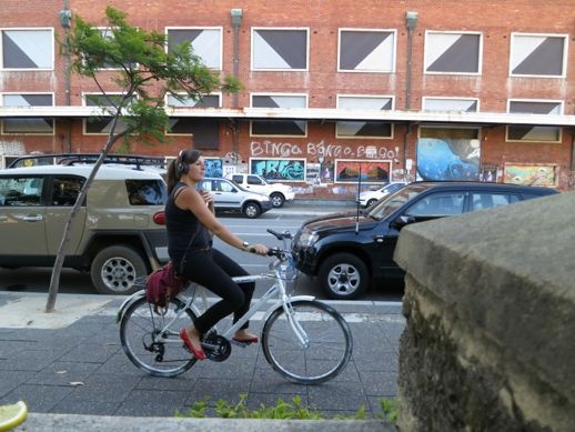 fighting for sanity in your city - sort of - A Beautiful City - Girl shot on abike