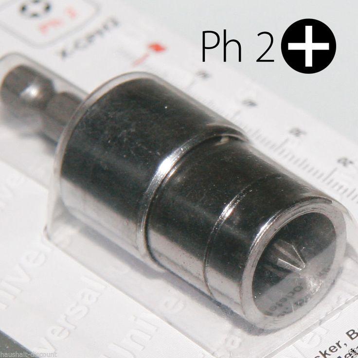 Ph2 Schraubendreher BITs mit Freilaufhülse Tiefenstopp für Schnellbauschrauben