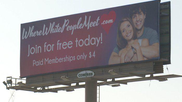 'Where White People Meet' dating site billboard turning heads in Utah | fox13now.com