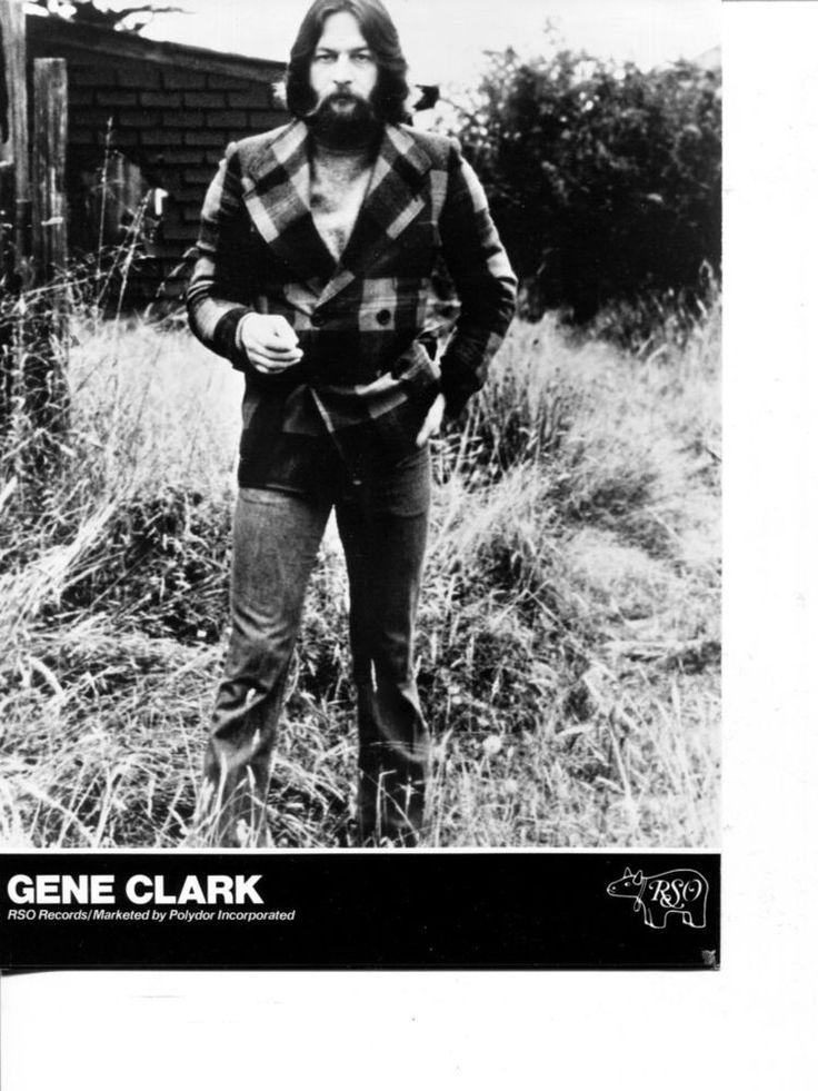 GENE CLARK The Byrds vintage Publicity Press Photo 60s 70s PSYCHEDELIC FOLK ROCK