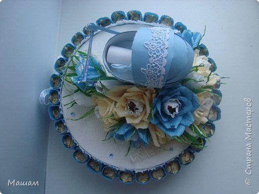 Свит-дизайн День рождения Бумагопластика Моделирование конструирование Торт на рождение мальчика и кое-что еще  Бумага гофрированная Бусины Картон Ленты фото 4