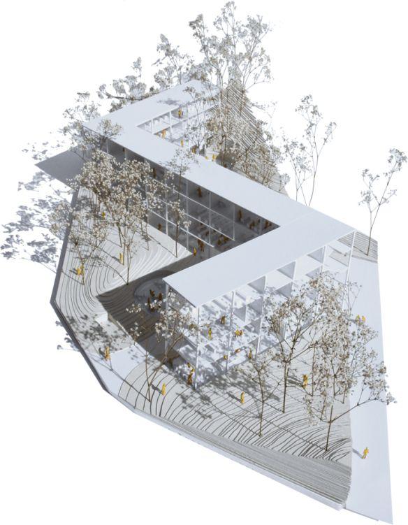 ARQIUTECTURA-G ha presentado una propuesta en concurso abierto para la construcción de un centro de educación de personas adultas y un aparcamiento.