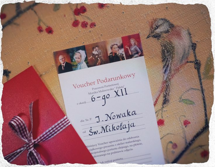 Najlepszy pomysł na trafiony prezent od Mikołaja - Voucher Podarunkowy z Pracowni Portretowej Moniki Malinowskiej