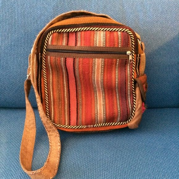 Persian Hand Woven Kilim Rug Cross Body Bag Beautiful Persian handicraft. Each side has different patterns. Small pocket on side, one pocket with zipper in front and one inside. Never used. NWOT Hand Made Bags Crossbody Bags