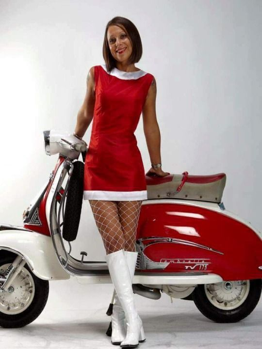 What is wrong with this picture?  Absolutlely nothing :)   ~  Lambretta & Mod / Go-Go girl