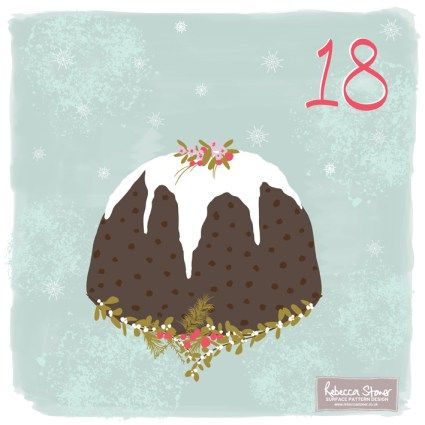 Day 18 - Christmas Pudding by Rebecca Stoner www.rebeccastoner.co.uk