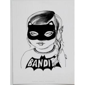 Bandit Girl Print