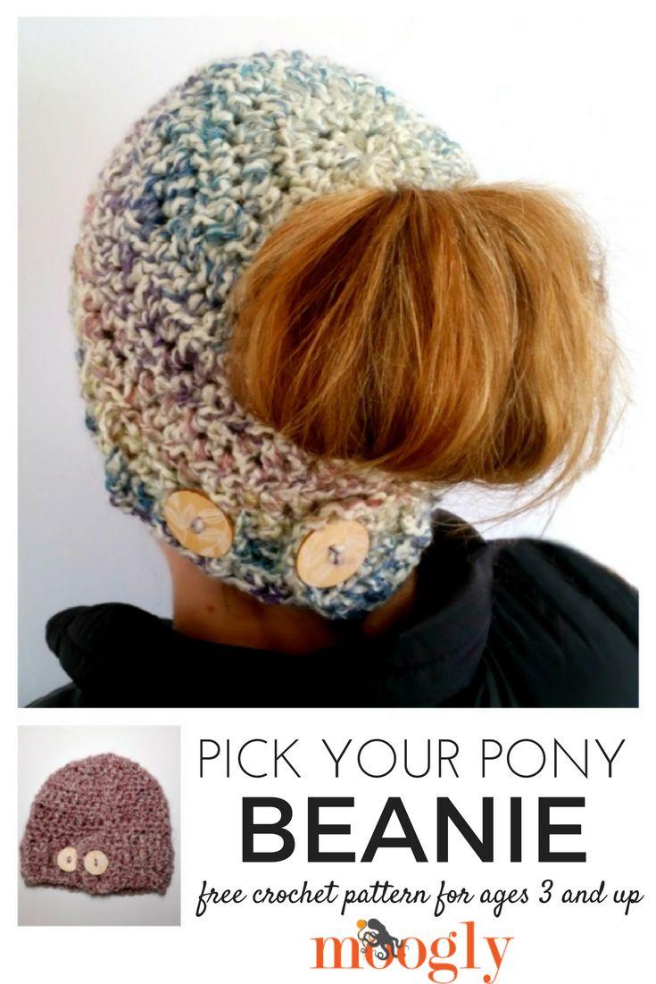 Pick Your Pony Beanie - free crochet pattern on Mooglyblog.com!