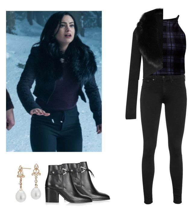 Veronica Lodge - Riverdale by shadyannon on Polyvore featuring polyvore fashion style Alice + Olivia Cameo Rose rag & bone Topshop Blue Nile clothing