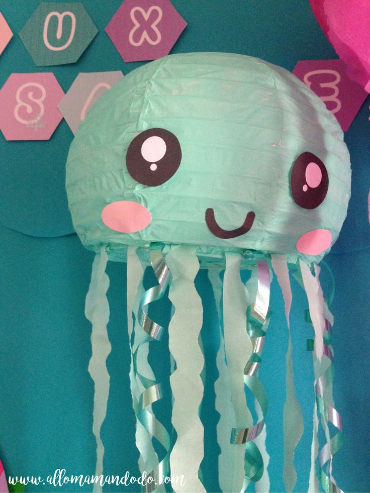 méduse papier jellifish diy                                                                                                                                                                                 Plus