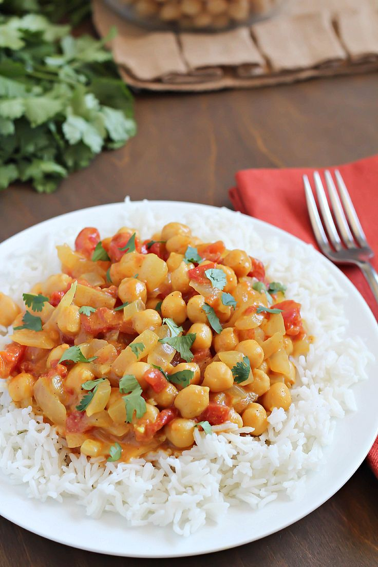 Coconut Chickpea Curry - will add fish and serve with cous cous