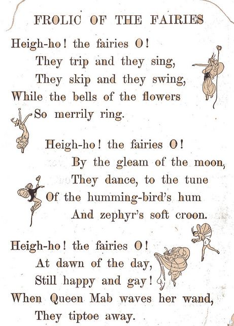 Frolic Of The Fairies Poem By Katinthecupboard Via Flickr