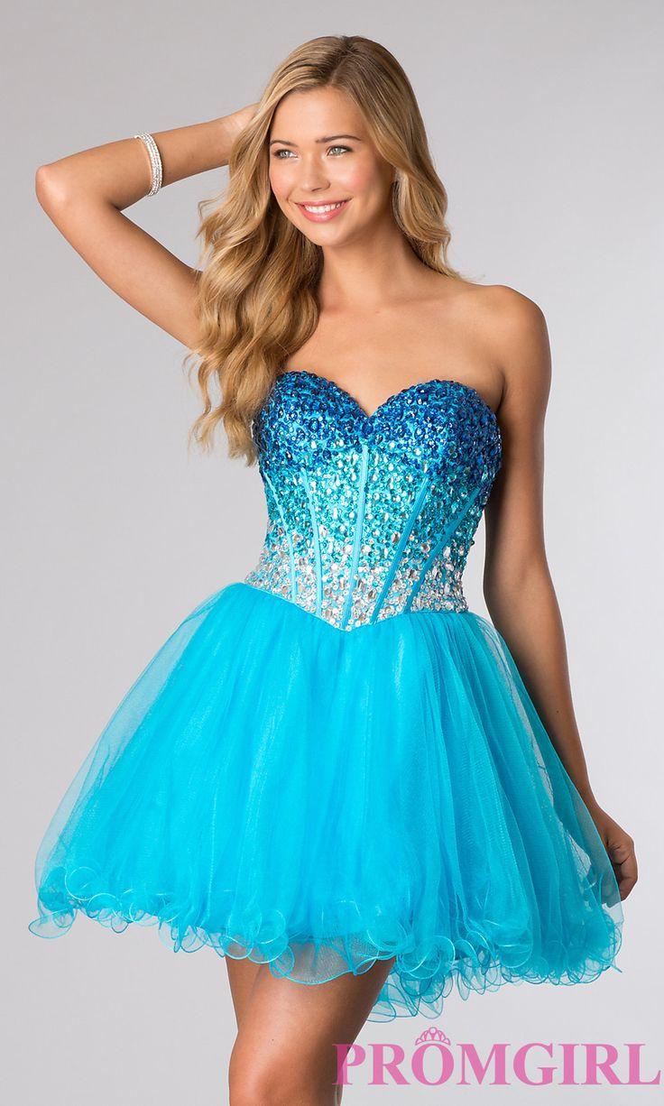 ALYCE Sweet 16 Dress Style #3635 in blue