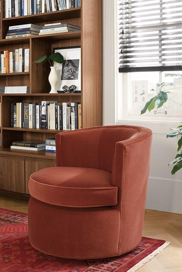 Otis Swivel Chair Modern Accent Lounge Chairs Modern Living Room Furniture Room Board Modern Furniture Living Room Modern Lounge Chairs Retro Dining Chairs #retro #living #room #chair