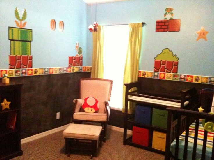 mario nursery :) for my future nerd niece or nephew.  Someday way in the future.