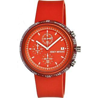 Issey Miyake Trapezoid Orange Watch | Polyurethane