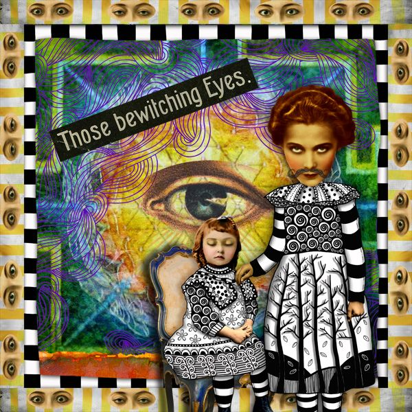 """""""Bewitched""""  a digital altered art piece created for the Three Muses challenge.   by Amber Tabangay 2012 all rights reserved.  #digital scrap #altered art"""