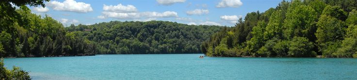 Green Lakes State Park's outstanding features are its two glacial lakes surrounded by upland forest. Both Round and Green Lakes are meromictic lakes, which means that there is no fall and spring mixing of surface and bottom waters. Such lakes have a high potential for evidence of ancient plant and animal life.