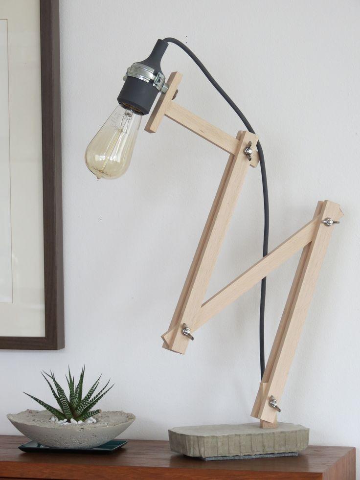 My last DIY project ;) concrete & wooden desk lamp. (by M. Laaser)