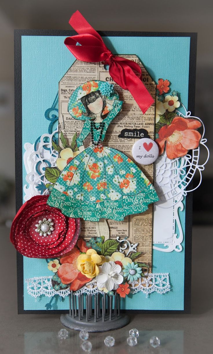Creative Mayhem: Prima Doll 'Audrey' and Graphics 45 'Raining Cats and Dogs'