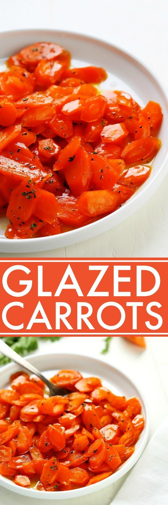 These are the BEST Glazed Carrots! Lightly sweetened, delicately seasoned & perfectly glazed. They make an amazing side dish that both kids & adults love. | platingsandpairings.com