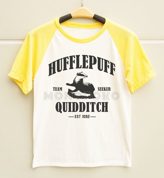 Potter Frenchy Party - Une fête chez Harry Potter - shopping selection - hufflepuff quidditch t-shirt - Poufsouffle