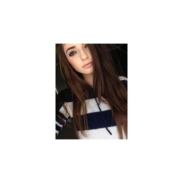Brunette Hair With Highlights ❤ liked on Polyvore featuring beauty products and haircare