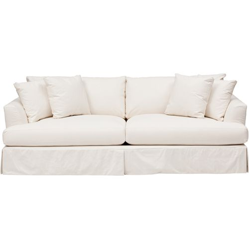 Cheap Sofa Covers Ready Made: Andre Slipcover Sofa, Dyno White - Dyno White