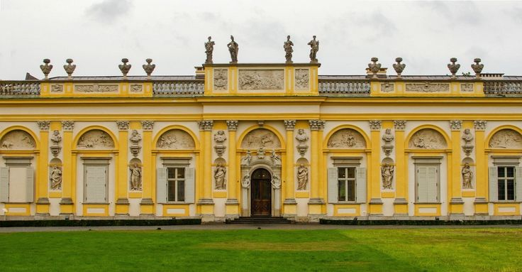 Southern wing of the Wilanów Palace constructed for Elżbieta Sieniawska by Giovanni Spazzio, Johann Sigmund Deybel and Jan Jerzy Plersch between 1720 and 1729