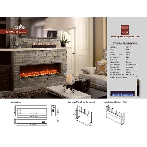 "Found it at Wayfair.ca - 55"" Built-in LED Electric Fireplace"
