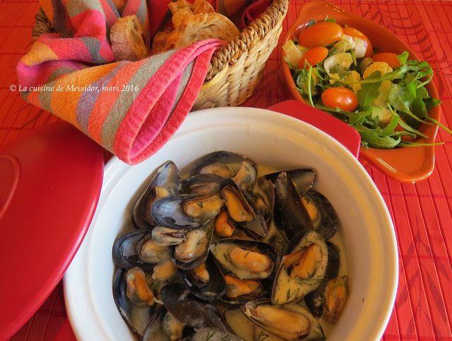 La cuisine de Messidor: Moules crémeuses à l'aneth et au citron +