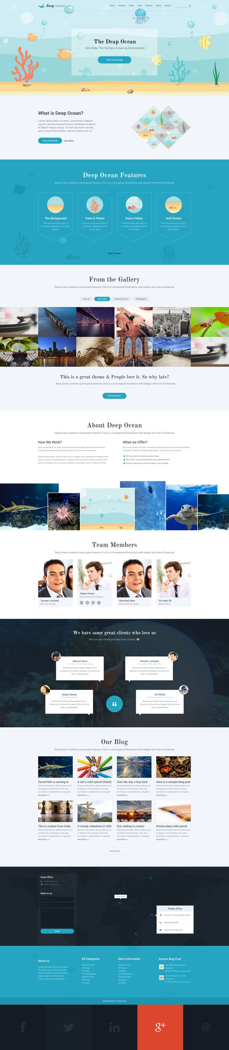 Deep Ocean Single Page PSD Template • Download ➝ https://themeforest.net/item/deep-ocean-single-page-psd-template/8058575?ref=pxcr