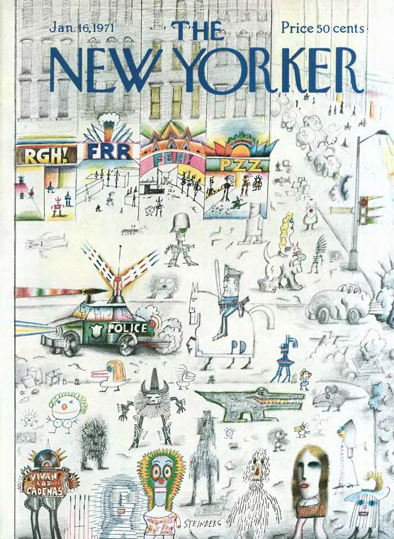 saul steinberg the new yorker covers