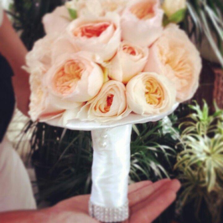 Bouquet da sposa con rose inglesi