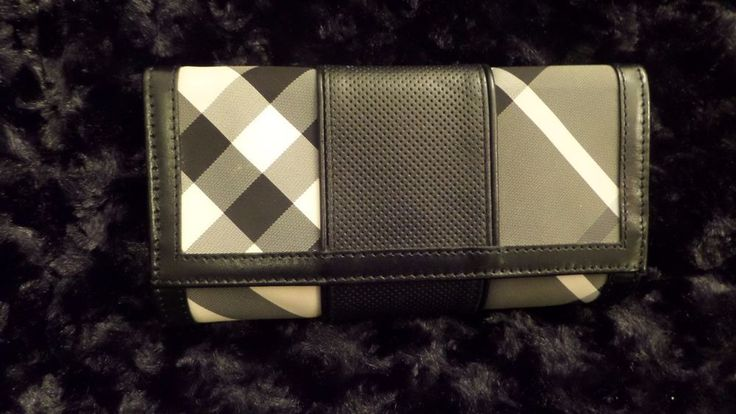 RARE Burberry Beat Check Continental Wallet! Nova Check EUC  #Burberry #BifoldContinental