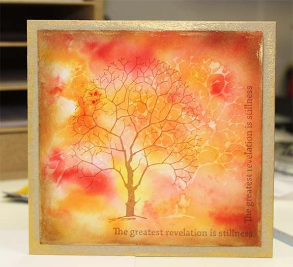 Chocolate Baroque Design Team: An orchard of Brusho Trees (by Lesley)