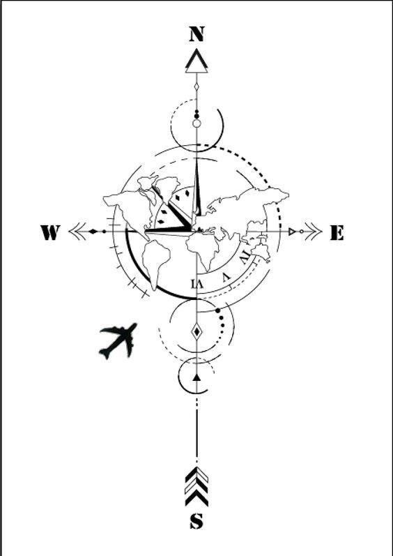 #wanderlust #inspo #tattoo #passport #stamps #map