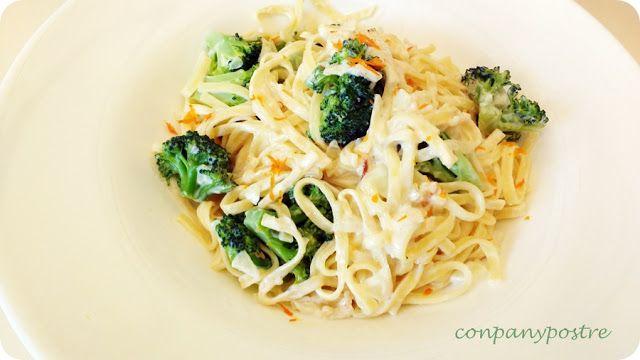 Con pan y postre: Espaguetis con crema, brécol y aroma de mandarina ...