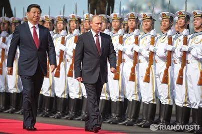 Google+ Владимир Путин и Си Цзиньпин открыли совместные военно-морские учения. Путин выразил уверенность, что связи России и Китая, в том числе в военной сфере, будут и дальше укрепляться. Напомним, что последние годы военное сотрудничество России и Китая активно развивается. За 20 лет РФ поставила в Китай множество оружия и боевой техники, в том числе истребители Су-27, комплексы противовоздушной обороны и зенитные ракетные системы С-300: http://ria.ru/politics/20140520/1008534383.html