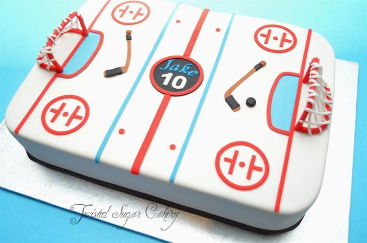 Hockey Time! on Cake Central