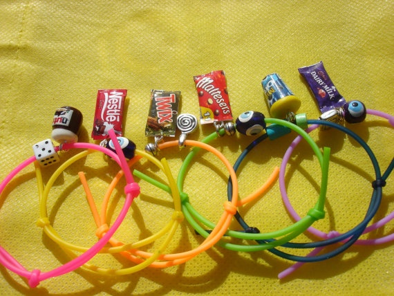 chocolate bar rubber charm bracelet 2 by andreachalari on Etsy, $5.50