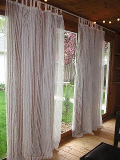 Chris And Robinu0027s Nest: Cheap DIY Curtain Rods   For The Patio?