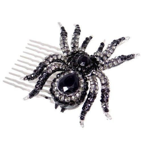 EVER FAITH® Austrian Crystal Spider Hair Comb Black Silver-Tone N02251-1 Just 20.99 #Save at least #50%off #sale