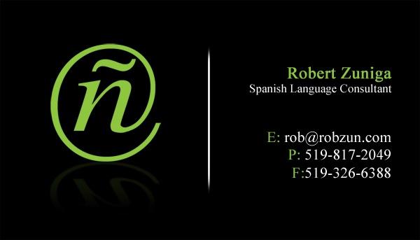 Robert Zuniga Business Card | Photo @ J Imaging. http://jimaging.net/RobZun/