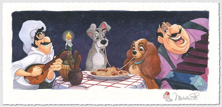 Lady and the Tramp - A Serenade for Lady - Michelle St. Laurent - World-Wide-Art.com - #disney #michellestlaurent #ladyandthetramp