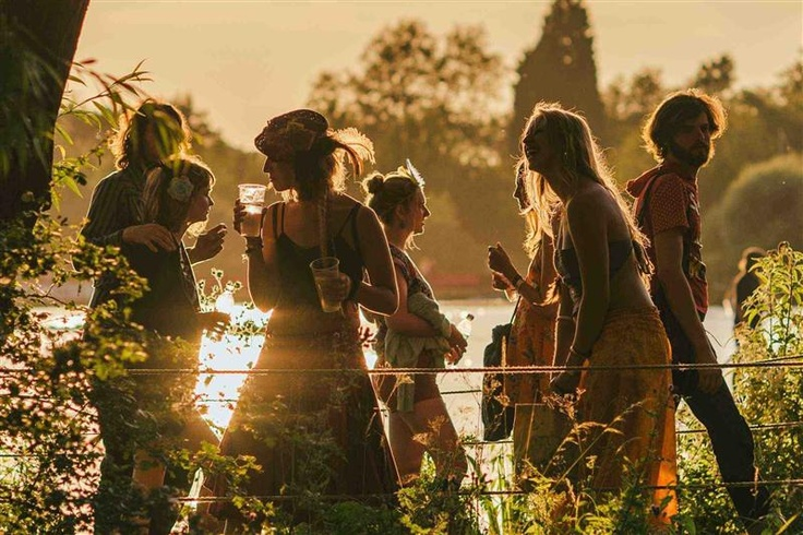 Festival-goers at the Secret Garden Party