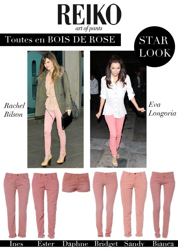 Do like Rachel Bilson and Eva Longoria adopt the BOIS DE ROSE color