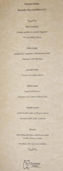 Flaxman Wines - Eden Valley - Photo's of Australia Day Lunch 2013