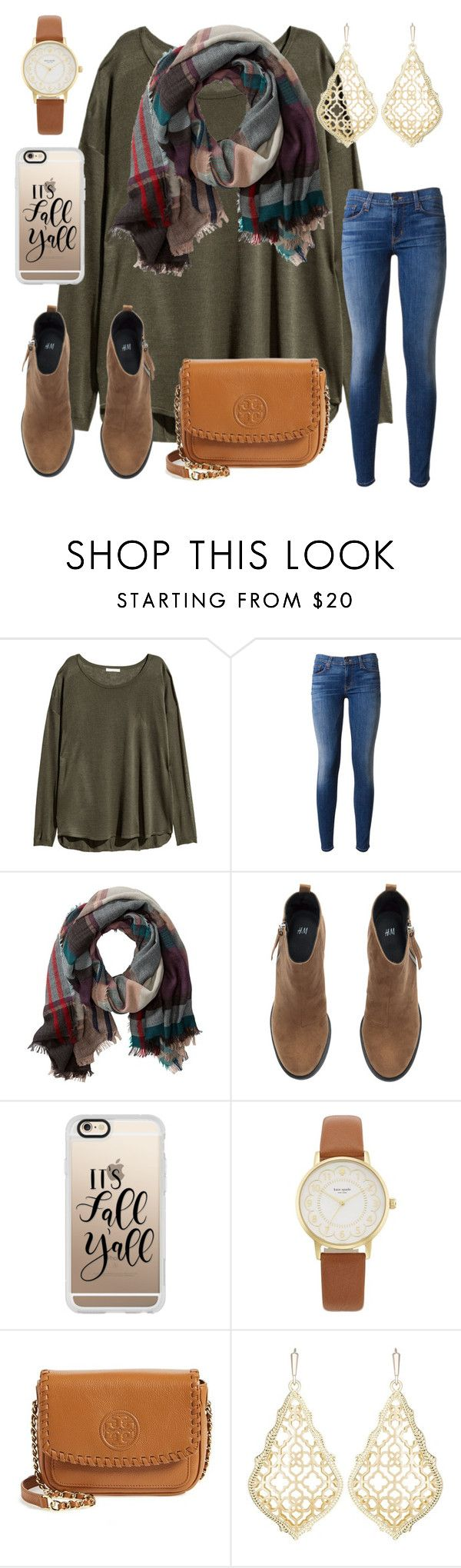 """comment if you went to church today"" by ctrygrl1999 ❤ liked on Polyvore featuring H&M, Hudson, TravelSmith, Casetify, Kate Spade, Tory Burch and Kendra Scott"